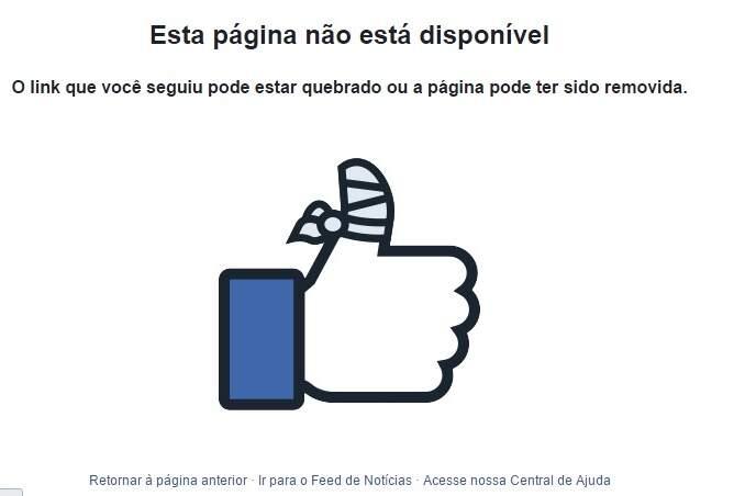 Página do deputado foi bloqueada no Facebook
