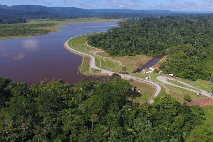 Vista aérea da barragem do Gelado, da Vale, distante 50 quilômetros de Parauapebas. A barragem é uma das que recebeu visita.