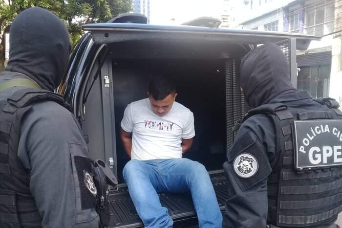 Prisão de 'Diel', um dos oito acusados pela chacina: um segue foragido