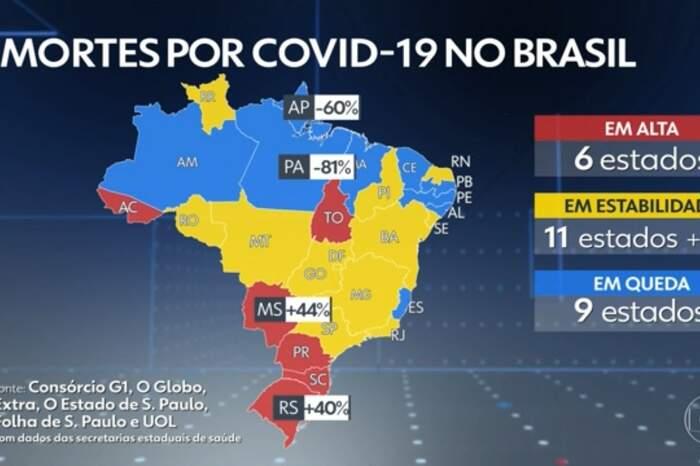 Mapa mortes no Brasil