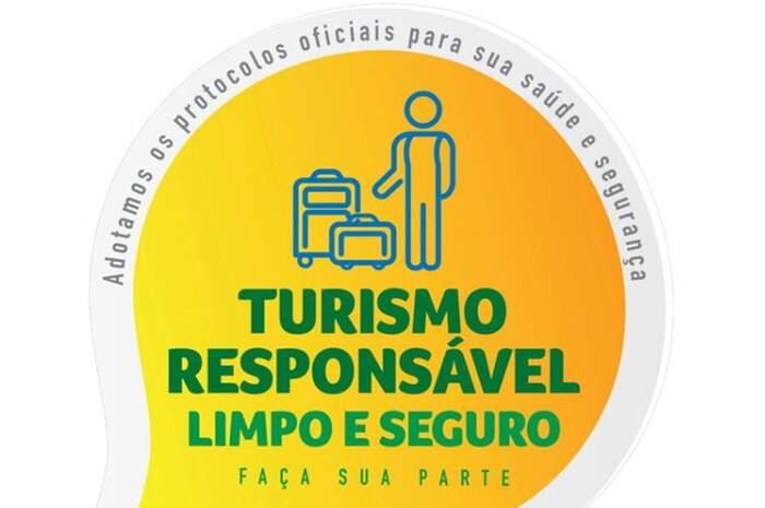 Selo criado pelo Ministério do Turismo para creditar quem segue os protocolos de higiene e segurança (reprodução)
