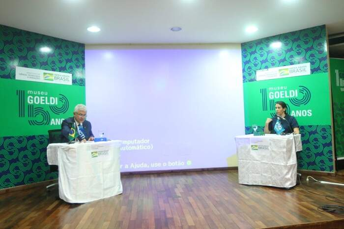 O ministro participou de uma live com a diretora do MPEG, Ana Luisa Mangabeira Albernaz, para falar sobre as atividades e ações do Museu Emílio Goeldi