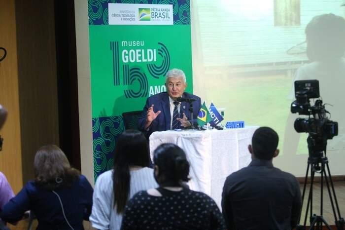 A visita do ministro coincidiu com o aniversário de 154 anos do Museu Paraeense Emílio Goeldi