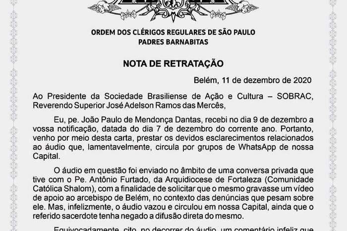 João Paulo Mendonça Dantas pediu desculpas pelas acusações em carta direcionada a Ramos