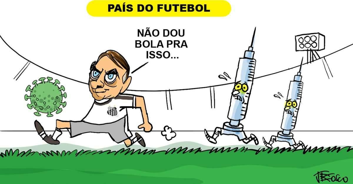 Bolsonaro e a corrida 'contra' a vacina no Brasil | Charges | O Liberal
