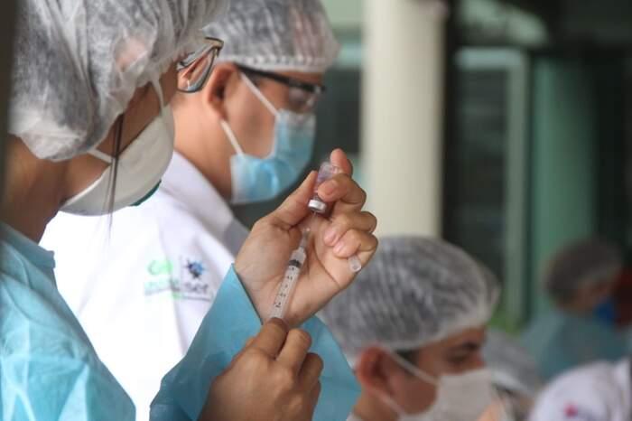 Até o momento, mais de 78 mil paraenses já receberam a primeira dose do imunizante