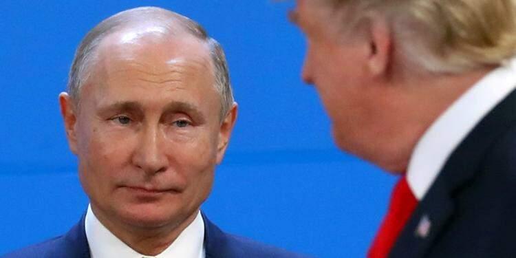 Presidento russo, Vladimir Putin, e presidente dos EUA, Donald Trump 30112018 REUTERSMarcos Brindicci